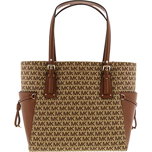 Made of Leather; Open top closure; 1 center Large zip pocket divides the bag into 2 large compartments; 1 zip pocket 2 inside open pockets and Key fob; 2 side pockets; Double dual buckle and adjustable leather shoulder strap of 8-10 Inches drop Flat ...