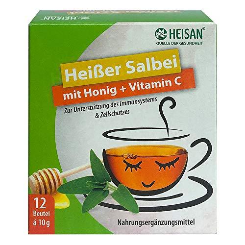 Heisan Heißer Salbei mit Honig + Vitamin C Heißgetränk Pulver, 1er Pack(1 x 149 g)