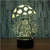 YOUPING 3D Colorido USB Seta Casa Noche Gradientes Led Lámpara de Escritorio Iluminación Dormitorio Decoración Luces