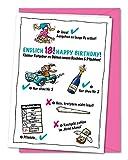 XL Geburtstagskarte zum 18. Geburtstag - weiblich