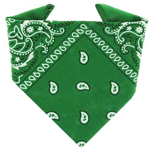 ...KARL LOVEN - Bandana 100% algodón - Paisley Verde - Pañuelo para el cuello, cabeza bufanda para hombre, mujer y niño muñeca Pulsera motociclista Deportiva
