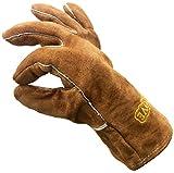 Cosystove Gants de sécurité résistant à la chaleur de haute qualité en cuir véritable avec protection contre la température...