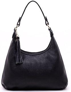 Adebie - 2017 Real Cow Women Genuine Leather Ladies Satchel Handbag Dual Function Hobos Female Shoulder Bag Fashion Big Messenger Bag Black []