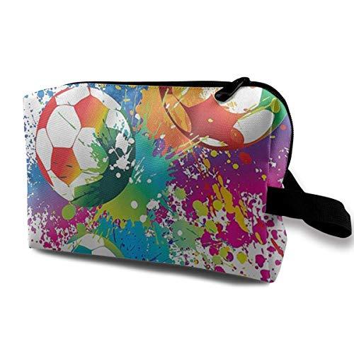 Éclaboussures colorées Partout dans Le Football Sacs de cosmétiques de Voyage Portables Sacs d'organisateur de Maquillage Sacs de Rangement de Grande capacité