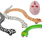 Liberty Imports 16 inches Realistic Remote Control RC Snake Toy with Egg-Shaped Infrared Controller (Black)
