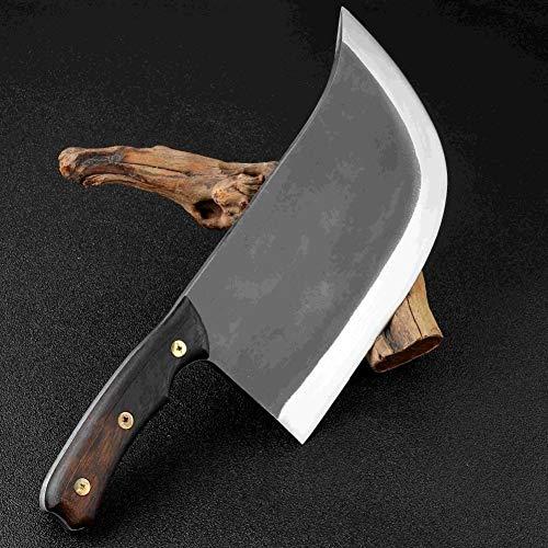 Scherp Super Big & Heavy handgemaakt mes 1364g 8,5 inch Hotel Kitchen Butcher speciaal mes hoge Staal van het Mangaan Smeden Chef Tool Duurzaam (Color : A)