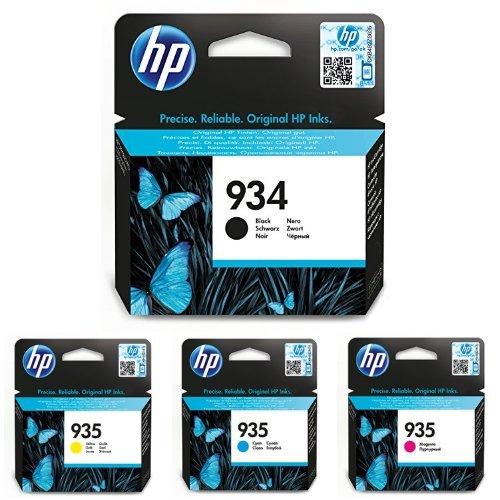 HP 934 Multipack Original Druckerpatronen (Schwarz, Blau, Rot, Gelb) für HP Officejet Pro