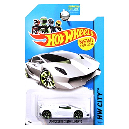 Mattel 2014 Hot Wheels HW City Lamborghini Sesto Elemento - White [Ships in a Box!] by
