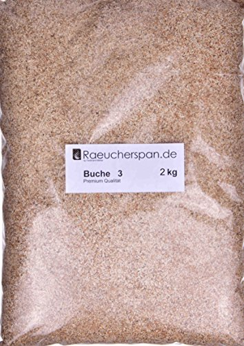 Räucherspäne Räuchermehl Buche Typ 3 mittelfein 0,3-1mm für Sparbrand geeignet (2kg)