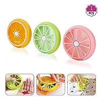 ピルケース 薬ケース 携帯型 習慣薬箱 薬入れ コンパクト防湿 薬入れ 小物入れ 飲み忘れ防止 かわいい 果物 オレンジ