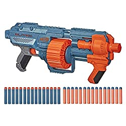 UPGRADE-READY BLASTER: customise the blaster by adding accessories to the three tactical rails, barrel attachment point and stock attachment point (stock and barrel extension not included). INCLUDES 30 NERF DARTS: comes with 30 Official Nerf darts to...