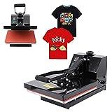 Ridgeyard 220V Profesional prensa de calor camisetas digital prensa termica para sublimacion 38cm x 38cm 0-250℃ heat press machine