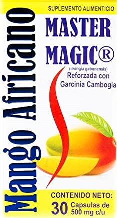 Mango Africano with Garcinia Cambodia, Master Magic Weight Loss Original Version 30 Caps Bottle