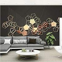 写真の壁紙3D立体空間カスタム大規模な壁紙の壁紙 三次元金属の壁の装飾リビングルームの寝室の壁紙の壁の壁画の壁紙テレビのソファの背景家の装飾壁画-350X250cm