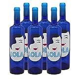 Vino blanco Lola Semidulce de 75 cl - D.O. Campo de Borja - Bodegas Delgado Zuleta (Pack de 6 botellas)