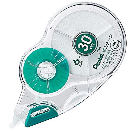 ぺんてる 30m修正テープ XZT516-W 緑