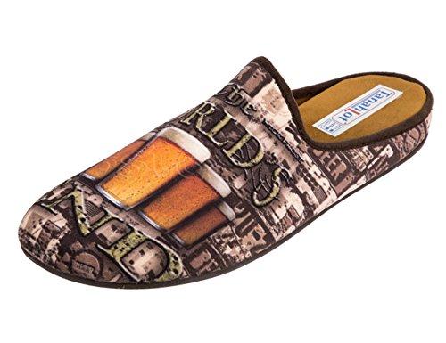 Tanahlot 5556356 Zapatillas de Estar por casa Cervezas 41 EU