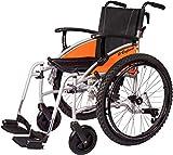 MobiQuip. Silla de ruedas todoterreno G Explorer con asiento de 45 cm y neumáticos todoterreno de 60 cm. Estructura de aluminio plateado.