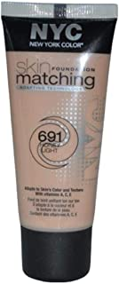 NYC Skin Matching Foundation - 691 Honey Light, 30 ml