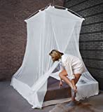 MosquitoHouse Mosquitera Para Cama grande Modelo XL. Medidas 150x150x265x1265 cm. Con un solo punto de sujeción y dos aperturas solapadas, para cama de 150 cm de ancho.