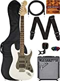 Fender Squier Affinity Stratocaster - Olympic White Bundle with Frontman 10G Amplifier, Gig Bag, Instrument Cable, Tuner, Strap, Picks, and Austin Bazaar Instructional DVD