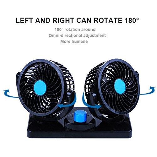 Ventilador de Refrigeración para Coche 12V Velocidad Ajustable 360 ...