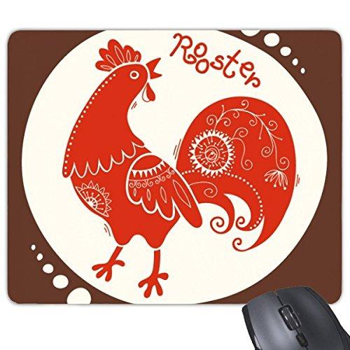 Chinese sterrenbeeld Gelukkig Nieuwjaar 2017 Jaar van de Haan Patroon Illustratie Rechthoek Antislip Rubber Mousepad Game Mouse Pad