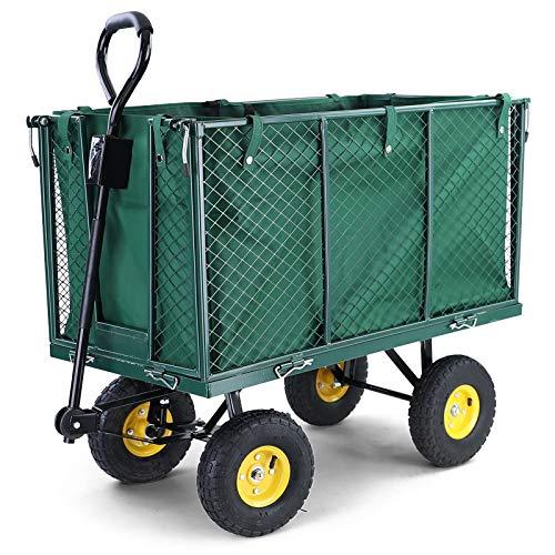RAMROXX 37606 Transportwagen Gartenwagen Gerätewagen Handwagen mit Luftbereifung XXL 300KG