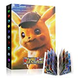 Raccoglitore Carte Pokémon, Porta Carte Pokemon Grande, L'album ha 24 Pagine e può Contenere 432 Carte Album per Carte Pokemon GX Ex, Album di Carte Collezionabili Pokémon Cartella (Detective Pikachu)