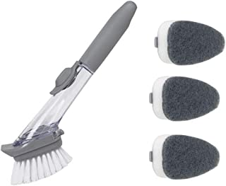 Amazon.com: 1 Cepillo Para lavar los Platos Rellenable y 3 Cabeza de ...