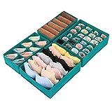 Magicfly Büstenhalter Aufbewahrungsbox, 4 Stück Faltbare BH Organizer für Unterwäsche, Dessous, Socken für Schublade Kleiderschrank Grün