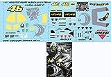 1/12 Valentino Rossi Test Figure Valencia 2012 Yamaha M1 Decals TB Decal TBD149