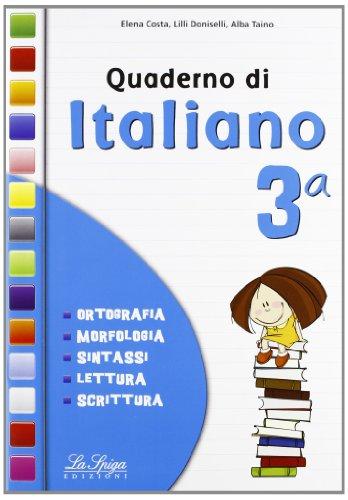 QUADERNO DI ITALIANO 3: Vol. 3