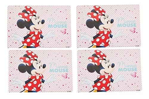 Lot de 4 sets de table en plastique Minnie Mouse 42 x 28 cm (Minnie 01)