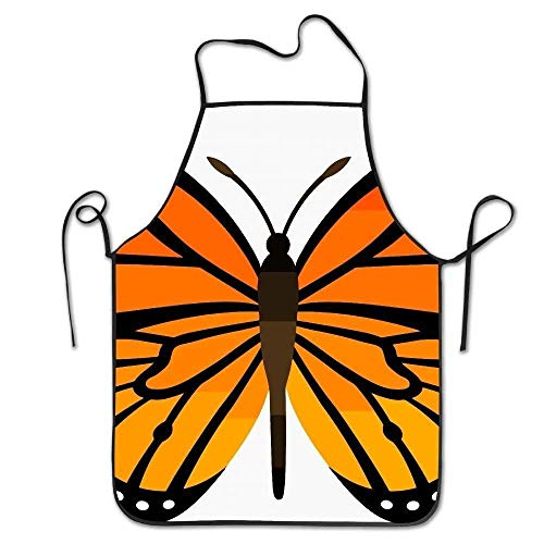 Monarch Butterfly Deluxe Aprons Personalized Printing Kitchen Apron