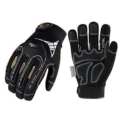 Vgo 1-Pair 32°F Waterproof High-Dexterity Heavy-Duty Winter Mechanic Gloves w/3M Thinsulate Lining, Impact & Vibration Reduction (Size XXL, Black, SL8849FW)