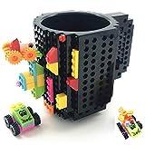 HUISHENG Build-on Brick Mug, Tazza di caffè, Regali Originale per Uomo Lui Donna Ragazza Amici Bambini, Idea Regalo per Natale Pasqua Festa del papà Compleanno, Compatibile con Lego