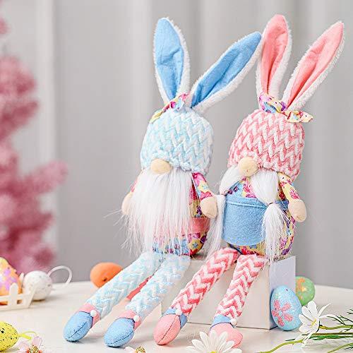 Gnomos de Pascua, decoración de felpa, gnomos suecos Nisse escandinavos Tomte Elf enano, muñeca de peluche sin rostro hecho a mano, regalo para mujeres y niñas, decoración de primavera