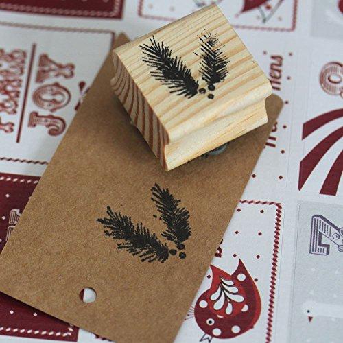East of India Stamp Sapin caoutchouc - artisanat de Noël Noël Scrapbooking