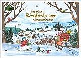 Crottendorfer Räucherkerzen - Calendrier de l'Avent avec 24 cônes d'encens – Motif de Noël 2021 – Fabriqué en Allemagne.