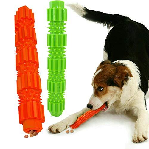 KOMUSII Hunde Zahnpflege Spielzeug,Leckerli-Spender für Hunde Welpen-Zahnpflege,100% Natürlich Weichem Silikon,Dentalball ideal für Mittel& Kleine Hunde sowie zahnende Welpen,2 Stück Kauspielzeug