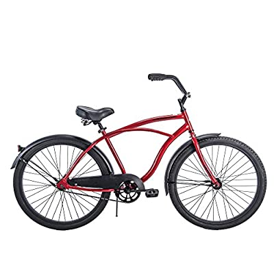 "Huffy 26"" Men's Cranbrook Cruiser Bike with Freebie (Red)"