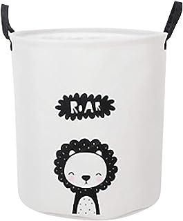 Grand panier à linge pliable en coton - Pour le rangement de l'eau, des jouets - Idéal pour les chambres à coucher, la bua...