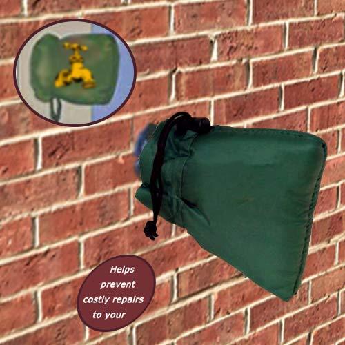 Aolun Robinet extérieur Coque Frost Veste isolée Protector, Vert foncé, 15 x 16 cm Two Packs