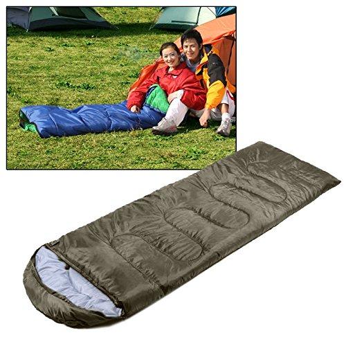 huihui Isomatte Camping Warm Rechteck Schlafsack (Color : Army Green)