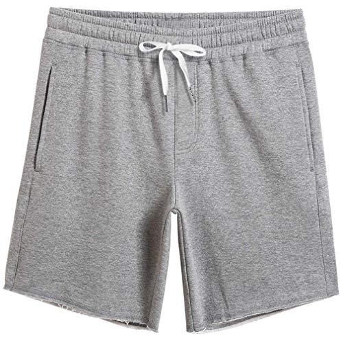 Fanient Herren Bermuda Schlafanzughose Pyjamahose Kurz Baumwolle Short Nachtwäsche Sleep Hose Pants
