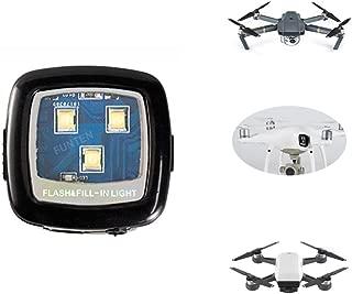 FUNTEN Hight Intensity CREE Strobe Light for DJI Drone Strobe Light KIT Spotlight Quadcopter for Inspire Phantom Mavic Typhoon H Yuneec for Night Navigation, Rechargeable-White Color