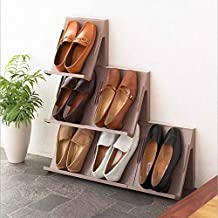 ELECTROPRIME Japan Imports Imported Shoes Rack Creative Vertical Shoe Stacked Cabinet Finishing 2 Sets.