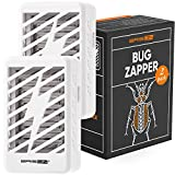 Electronic Bug Zapper - Mosquito Killer Lamp - Electric Fly Trap - UV Indoor Light Insect Zapper Mosquito Magnet Trap Chemical-Free Zapper for Home & Office – Silver Gray