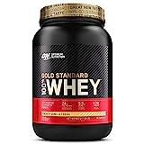 Optimum Nutrition Gold Standard 100% Whey Protéine en Poudre avec Whey Isolate, Proteines Musculation Prise de Masse, Crème Vanille, 30 Portions, 0.9kg, l'Emballage Peut Varier